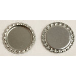 Bottle Cap Inc - Vintage Edition Collection - Specialty Bottle Caps - Flattened Chrome