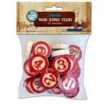 Bottle Cap Inc - Vintage Edition Collection - Altered Art - Bingo Chips - Red