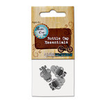 Bottle Cap Inc - Vintage Edition Collection - Shoe Clips - Silver