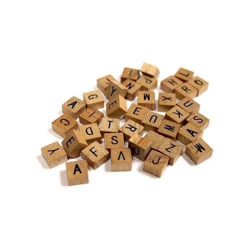 Bottle Cap Inc - Vintage Edition Collection - Altered Art - Wood Alphabet Tiles - Mini