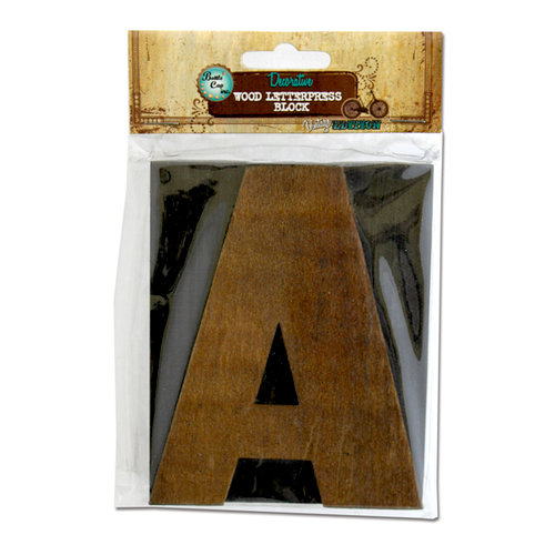 Bottle Cap Inc - Vintage Edition Collection - Altered Art - Large Letter Press Block - A