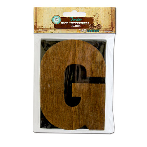 Bottle Cap Inc - Vintage Edition Collection - Altered Art - Large Letter Press Block - G