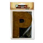 Bottle Cap Inc - Vintage Edition Collection - Altered Art - Large Letter Press Block - P