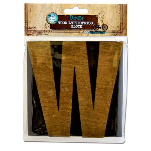 Bottle Cap Inc - Vintage Edition Collection - Altered Art - Large Letter Press Block - W