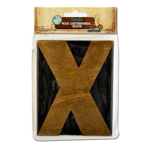 Bottle Cap Inc - Vintage Edition Collection - Altered Art - Large Letter Press Block - X