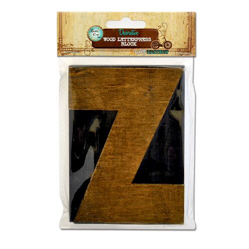 Bottle Cap Inc - Vintage Edition Collection - Altered Art - Large Letter Press Block - Z