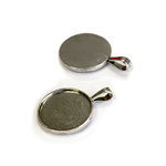 Bottle Cap Inc - Vintage Edition Collection - Jewelry Findings - Round Pendant - Antique Silver