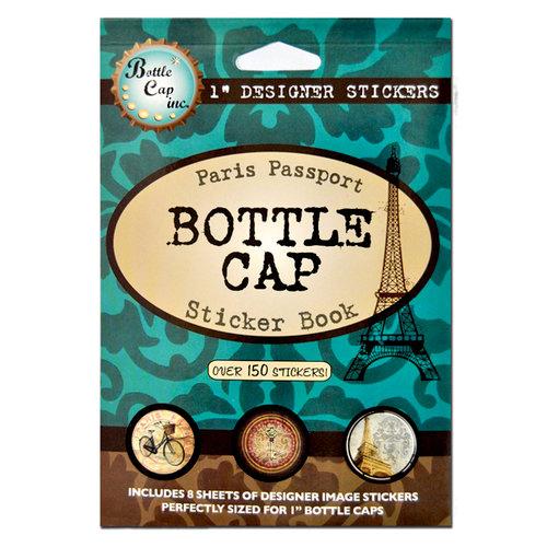 Bottle Cap Inc - Sticker Book - Round - 1 inch - Paris Passport