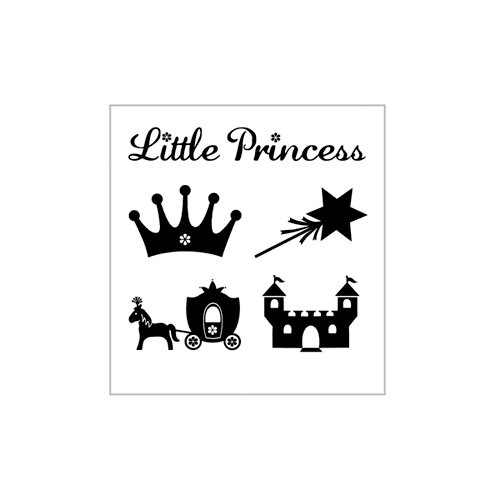 Clearsnap - My First ColorBox Mini Rubber Stamps - Princess