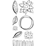 Ranger Ink - Studio by Claudine Hellmuth - Creative Layers - Clear Acrylic Stamp Set - Bloom