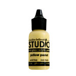 Ranger Ink - Studio by Claudine Hellmuth - Semi-Gloss Acrylic Paint - Yellow Pastel - .5 ounces