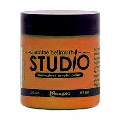 Ranger Ink - Studio by Claudine Hellmuth - Semi-Gloss Acrylic Paint - Altered Orange