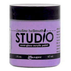 Ranger Ink - Studio by Claudine Hellmuth - Semi-Gloss Acrylic Paint - Purple Palette