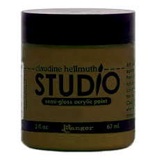 Ranger Ink - Studio by Claudine Hellmuth - Semi-Gloss Acrylic Paint - Sable Brown