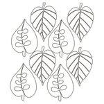 Ranger Ink - Studio by Claudine Hellmuth - 6 x 6 Stencil - Falling Foliage