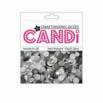 Craftwork Cards - Candi - Metallic and Shimmer Paper Dots - Silver Shadow
