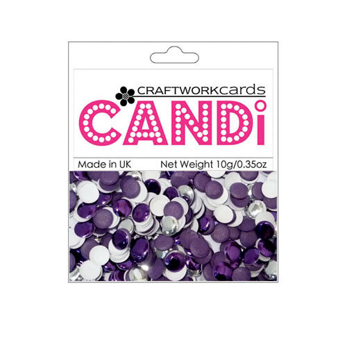 Craftwork Cards Candi Metallic And Shimmer Paper Dots Purple