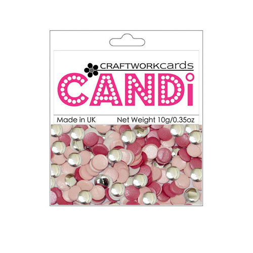 Craftwork Cards - Candi - Metallic and Shimmer Paper Dots - Sherbet Pips