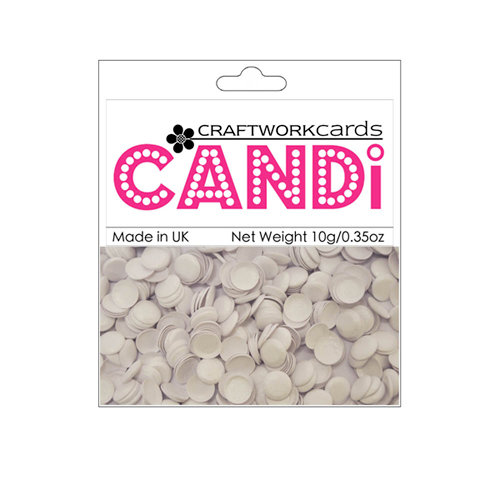 Craftwork Cards - Candi - Shimmer Paper Dots - Icing Sugar