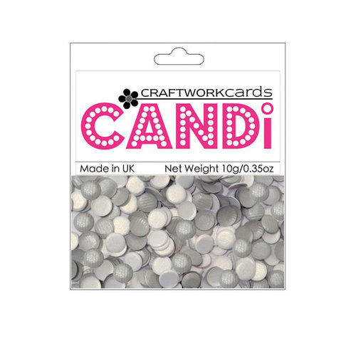Craftwork Cards - Candi - Texture Paper Dots - Silver