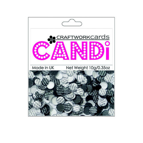 Craftwork Cards - Candi - Shimmer Paper Dots - Newsprint