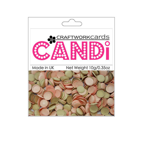 Craftwork Cards Candi Shimmer Paper Dots Chocolate And