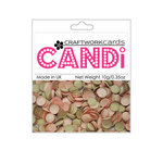 Craftwork Cards - Candi - Shimmer Paper Dots - Chocolate and Marshmallow