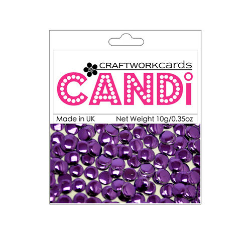 Craftwork Cards - Candi - Metallic Paper Dots - Regal Amethyst