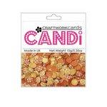 Craftwork Cards - Candi - Shimmer Paper Dots - Flower Sunset Strip