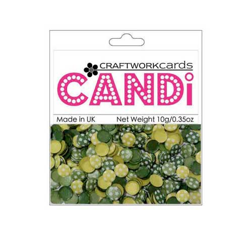 Craftwork Cards - Candi - Shimmer Paper Dots - Flower Greenwich Village
