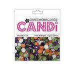 Craftwork Cards - Candi - Metallic and Shimmer Paper Dots - Trick or Treat