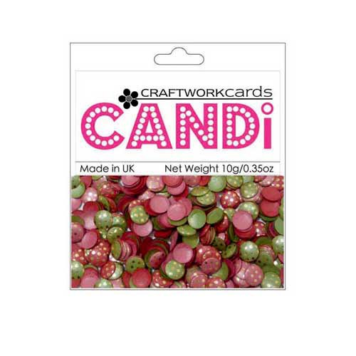 Craftwork Cards - Candi - Shimmer Paper Dots - Dotty Very Merry Gold