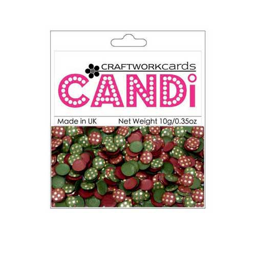 Craftwork Cards - Candi - Shimmer Paper Dots - Dotty Vintage Berries Gold