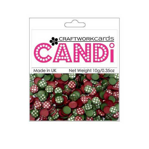 Craftwork Cards - Candi - Shimmer Paper Dots - Dotty Vintage Berries Silver