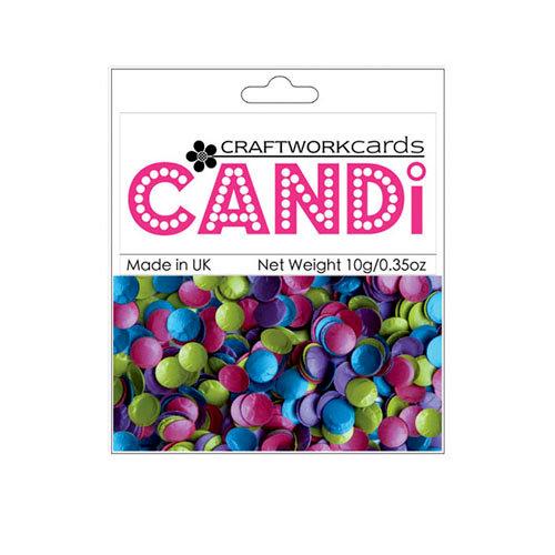 Craftwork Cards - Candi - Shimmer Paper Dots - Mardi Gras