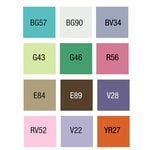 Copic - Sketch Marker Set - EX-6 - 12 Piece Set