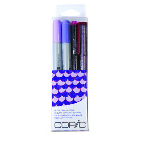 Copic - Marker Sets - Doodle Pack - Purple