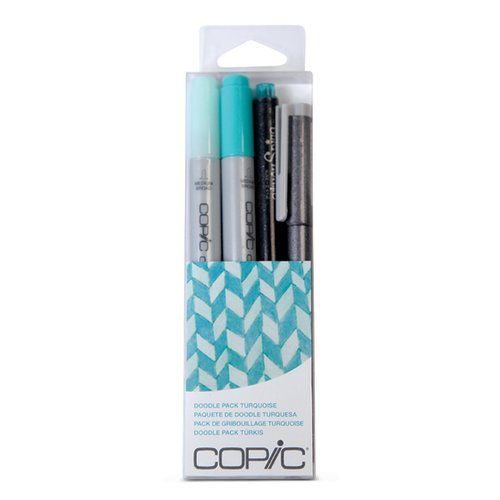 Copic - Marker Sets - Doodle Pack - Turquoise