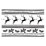 Couture Creations - Christmas Collection - A2 Embossing Folder - Reindeer Joy
