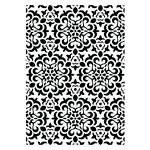 Couture Creations - Christmas Collection - 5 x 7 Embossing Folder - Christmas Quilt