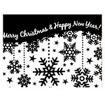 Couture Creations - Christmas Collection - 5 x 7 Embossing Folder - Snowflake Curtain