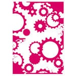 Couture Creations - Mikashet Collection - 5 x 7 Embossing Folder - Grungy Cogs N Gears