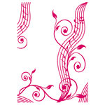 Couture Creations - Mikashet Collection - 5 x 7 Embossing Folder - Musical Flourish