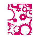 Couture Creations - Mikashet Collection - A2 Embossing Folder - Grungy Cogs N Gears