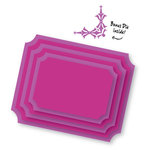 Couture Creations - Sweet Accent Collection - Nesting Dies - Inverted Corner Frames