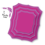 Couture Creations - Sweet Accent Collection - Nesting Dies - Fancy Rectangles