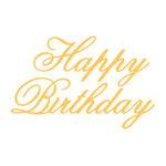 Couture Creations - Everyday Essentials Collection - Designer Dies - Script - Happy Birthday