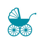 Couture Creations - Kalini Collection - Intricutz Dies - Vintage Stroller
