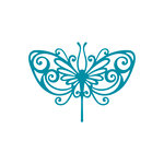 Couture Creations - Kalini Collection - Intricutz Dies - Stained Glass Butterfly