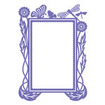 Couture Creations - Hearts Ease Collection - 5 x 7 Embossing Folder - Frame